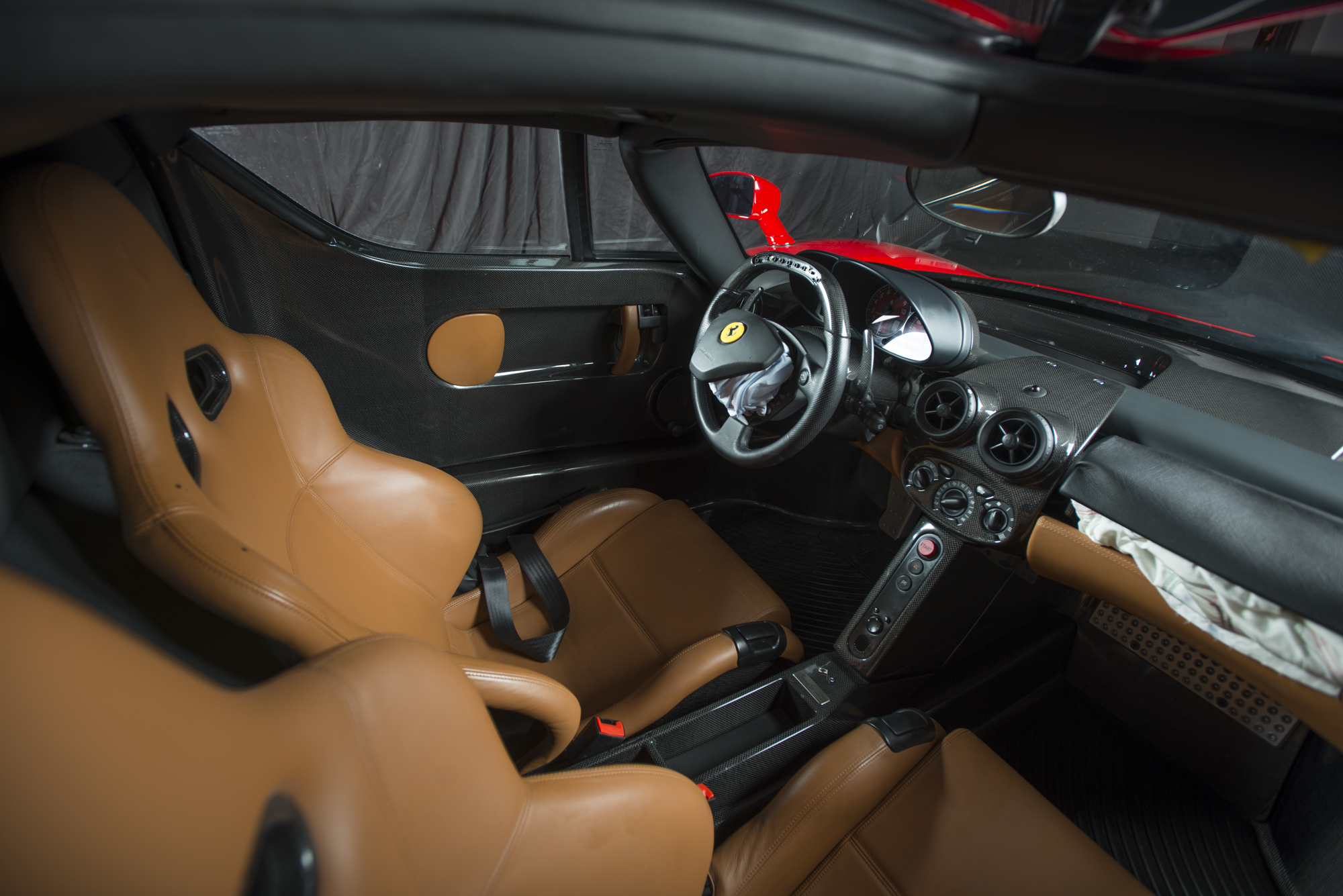 Ferrari Enzo interior crashed