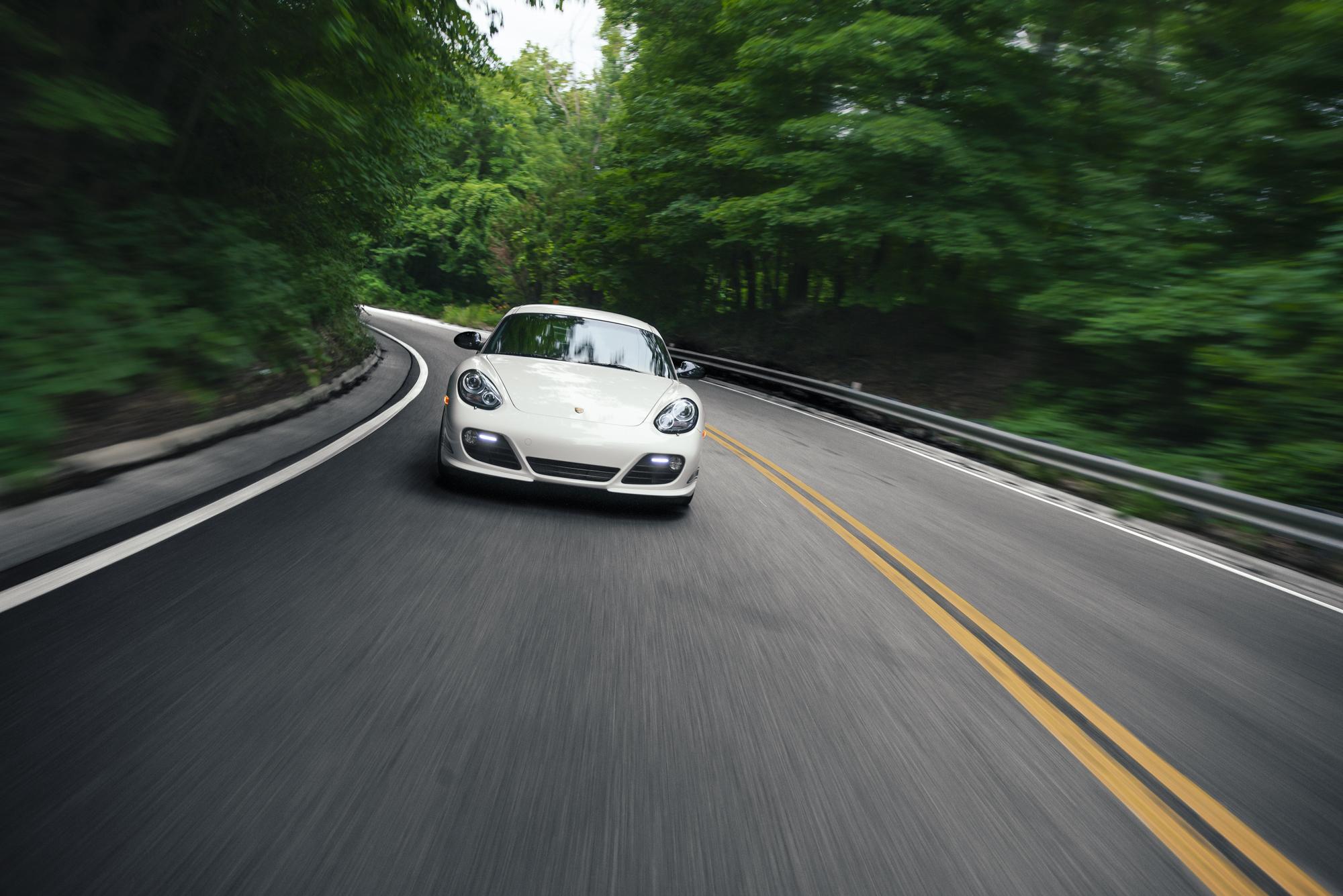 Porsche Cayman R Driving