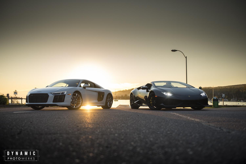 Audi R8 V10 Lamborghini Huracan Spyder